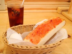 コメダ珈琲のモーニングA(トースト+ゆで玉子)